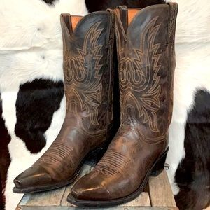 LUCCHESE Corbin Mad Dog Goat Cowboy Boots 9
